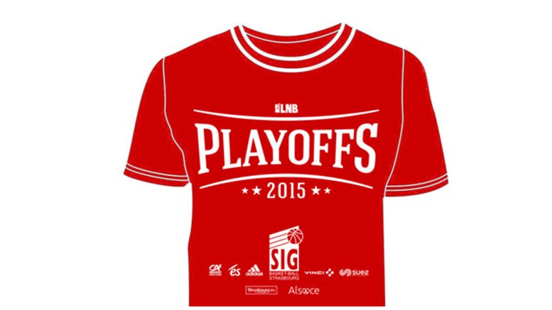 T-shirt playoffs 2015 flag (format paysage)