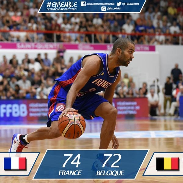 Tony Parker france Belgique