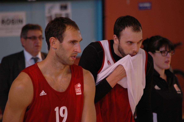 Golubović et Duport entraînement