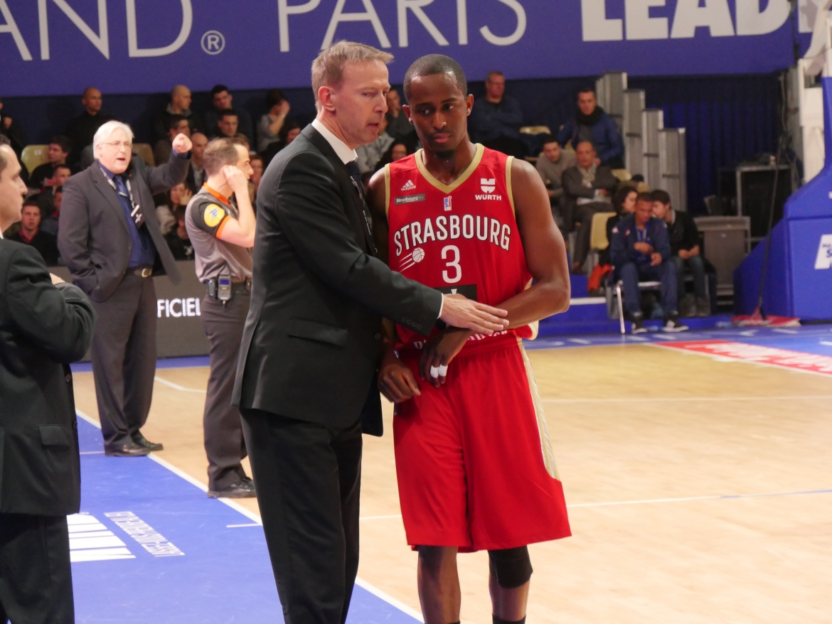 Leaders cup_SIG_Gravelines_Vincent Collet et Rodrigue Beaubois