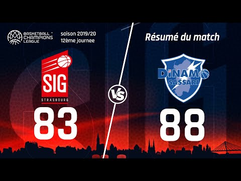 SIG Strasbourg-Sassari: les highlights du match