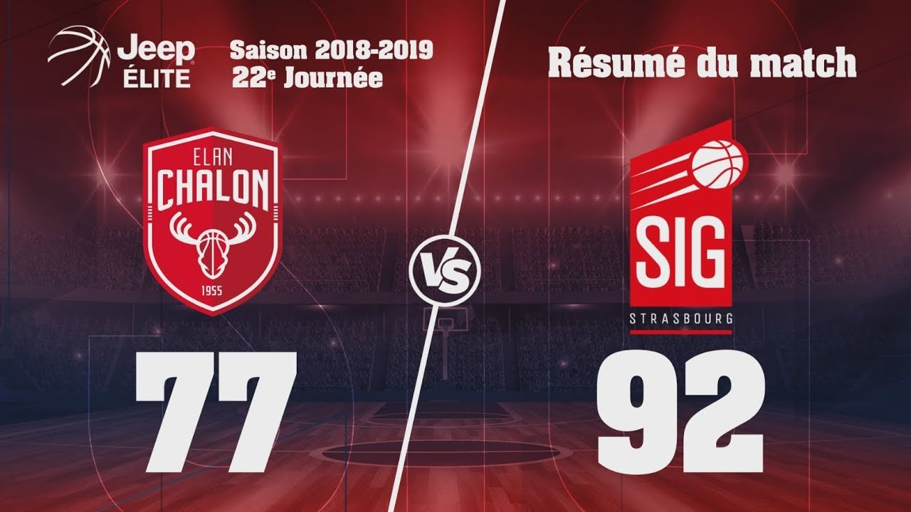 Chalon-SIG Strasbourg: Highlights du match