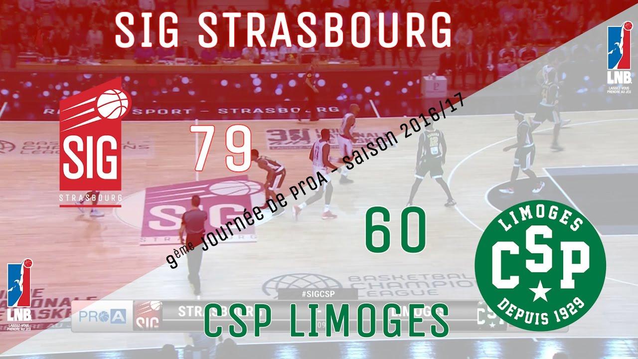Highlights SIG strasbourg/CSP Limoges