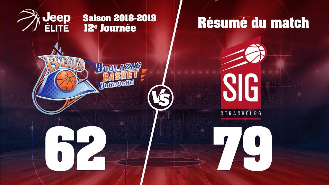 Boulazac-SIG Strasbourg : highlights du match