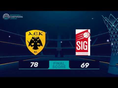 Highlights AEK Athènes / SIG Strasbourg