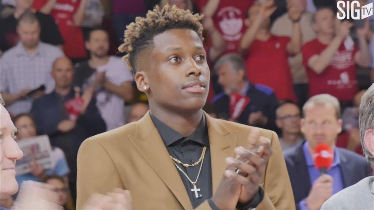 Montée de bannière draft NBA 2017 Frank Ntilikina