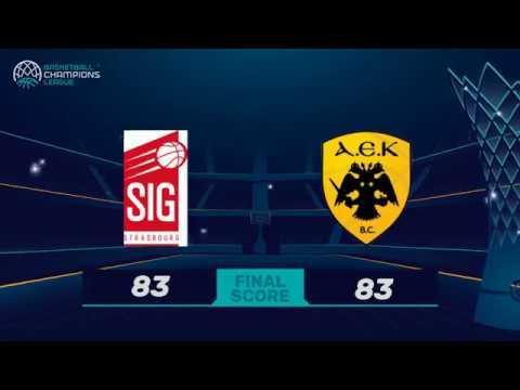Les Highlights de la SIG Strasbourg face à l'AEK Athènes