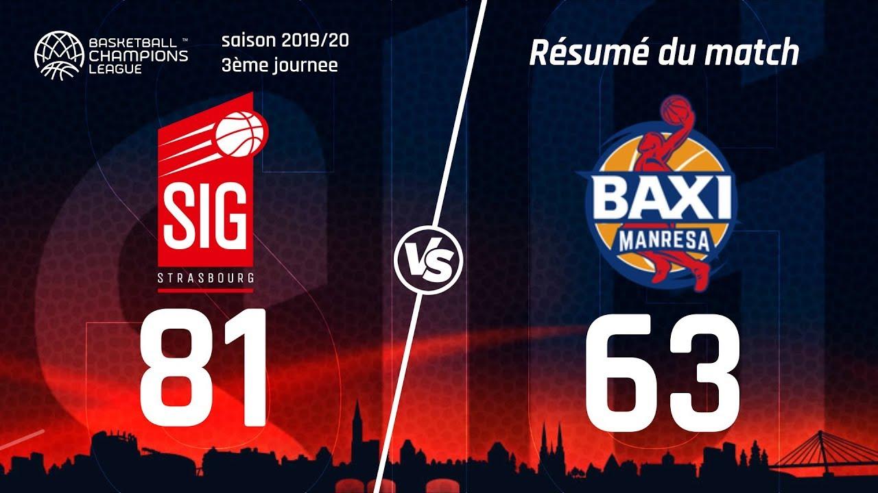 SIG Strasbourg-Manresa : Highlights du match