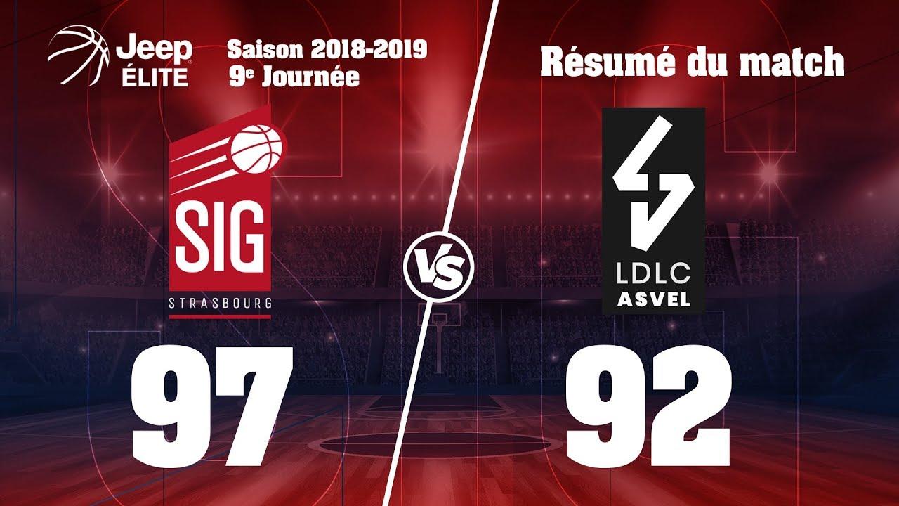 SIG Strasbourg-LDLC ASVEL: highlights et réactions de Jérémy Nzeulie