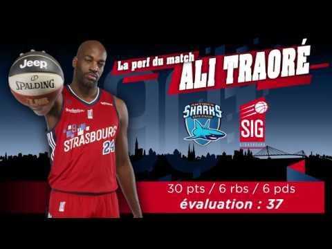 Antibes-SIG Strasbourg: la perf' du match signée Ali Traoré