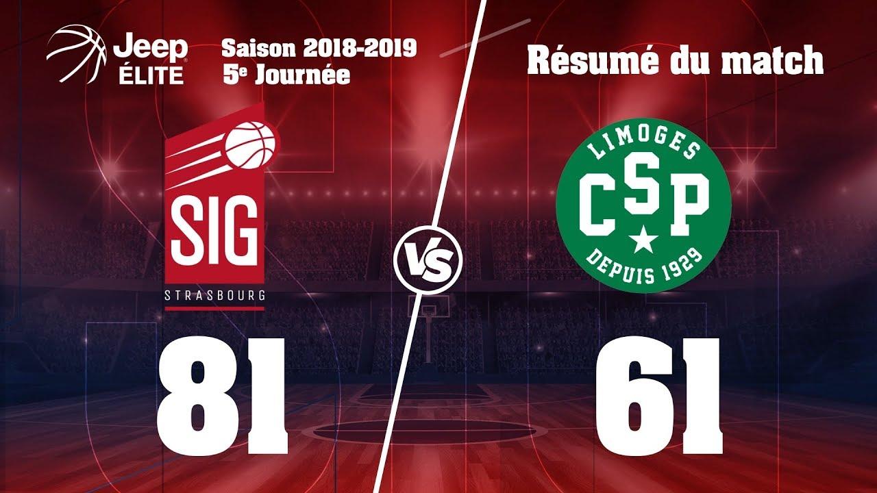 SIG Strasbourg-Limoges: highlights et réactions Jérémy Nzeulie